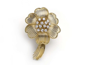 Cartier Flower Brooch