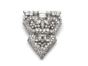 Diamond Clip Brooch