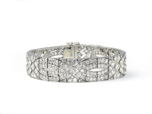 Art Deco Diamond Plaque Bracelet