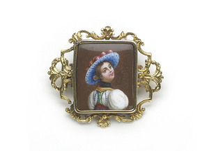 Swiss Enamel Brooch