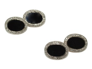 Black Onyx & Diamond Cufflinks