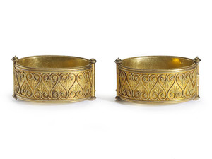 Pair of Victorian Etruscan Style Gold Bangles