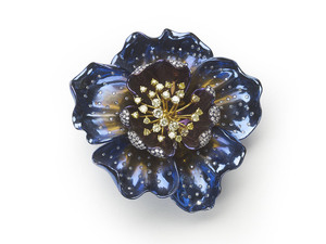Titanium Flower Brooch