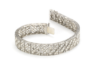 Art Deco Diamond Bracelet by La Cloche Freres