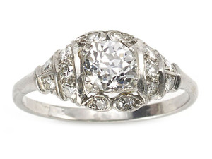 0.86ct Old Cut Diamond Ring