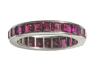 Synthetic Ruby Eternity Ring