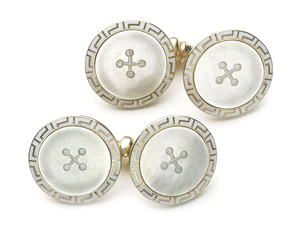 Mother-of-Pearl & Enamel Cufflinks