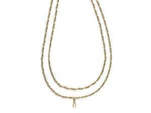 Gold Long Chain Twist Link