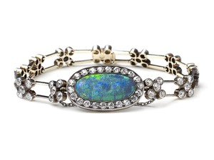 Antique Opal & Diamond Bracelet