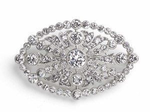 Edwardian Tiffany Diamond Brooch