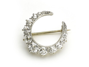 Tiffany Crescent Brooch