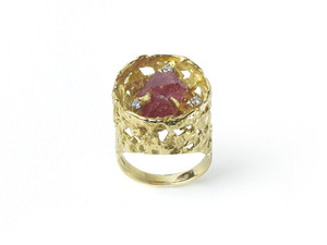 Spinel & Diamond Ring By John Donald