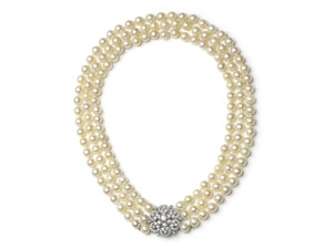 Three Row Pearl Necklace