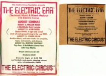 Shelter9999 flyer electric circus 1968