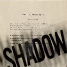 Spatial poem no. 4 with shadow sheet