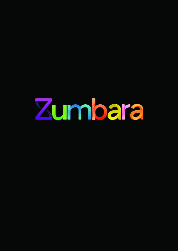Zumbara siyahzemin renkli 01