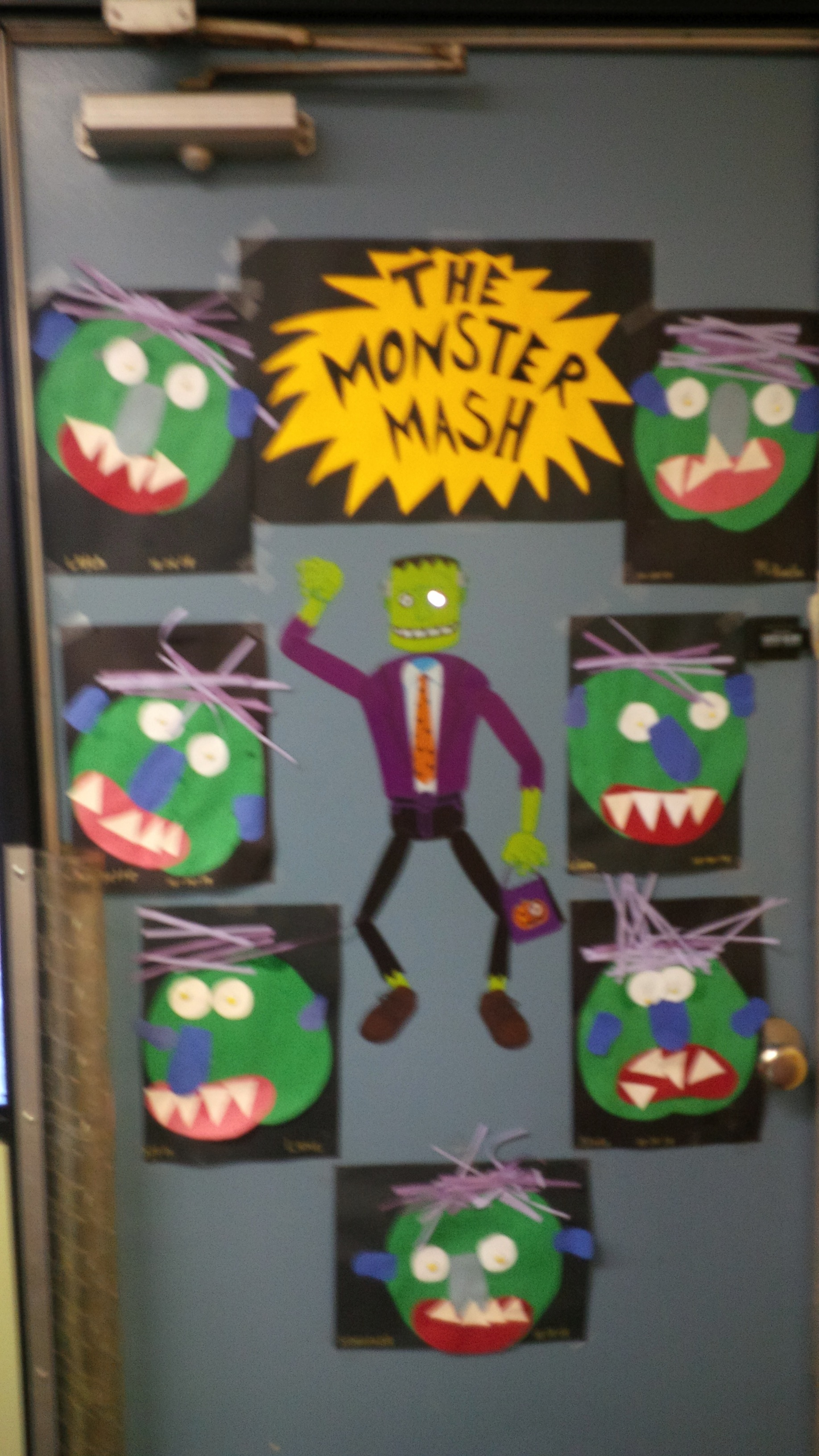 Classroom Halloween Decorations To Make : The monster mash halloween door decoration for your classroom