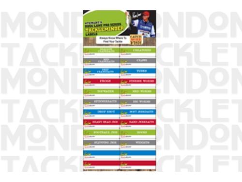 Russ Lane Pro Series Tackle Minder Labels
