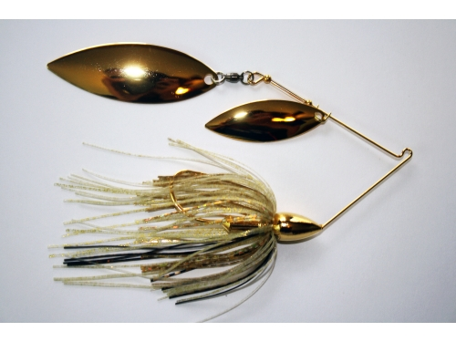 Gold Spinnerbaits Double Willow 3/8oz
