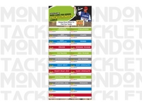 Russ Lane Pro Series Tackle Minder Labels