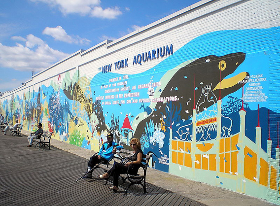 The WCS New York Aquarium sits on the boardwalk of Coney Island. Photo by: David Shankbone.