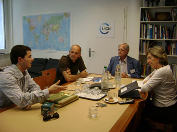 Borboroglu at meeting with IUCN. Photo courtesy of GPS.