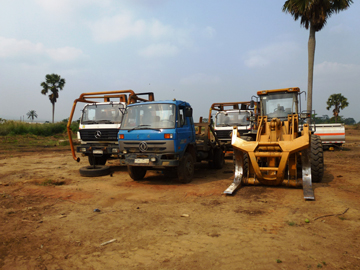 Equipment used by logger with artisanal license. Photo courtesy of Global Witness.