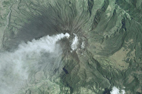 Tungurahua Volcano as seen by Google Earth.