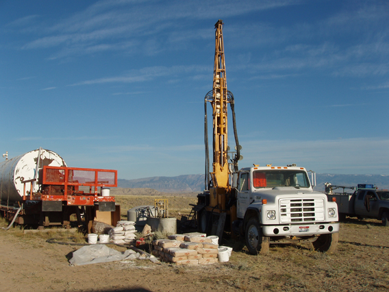 Coring rig used to take samples of the PETM. Photo courtesy of Phillip Jardine.