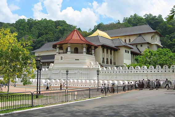 The Sri Dalada Maligawa Buddhist Temple, which may soon receive 359 elephant tusks.