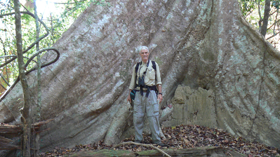 Howie Nielsen on a trek earlier this year into a remote portion of Virachey National Park. Photo by: Greg McCann.