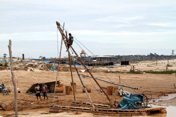 Mining site in Guacamayo mining area. Photo courtesy of: Luis Fernandez.