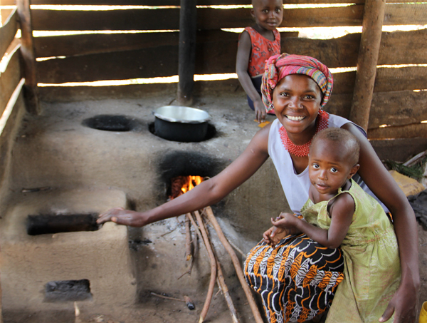 Fuel-efficient stoves not only burn better but also lead to less children having burn injuries. Photo courtesy of New Nature Foundation.