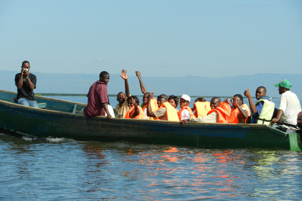 DCWF Field Trips with teachers into Lake Albert Semuliki National Park. Photo courtesy of Elizabeth Ross.