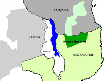 Map of Niassa National Reserve. Courtesy of Niassa Carnivore Project.
