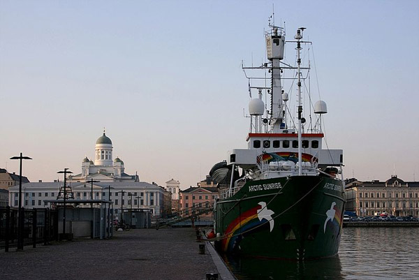The Arctic Sunrise in Helsinki, Finland. Photo by: Rozpravka.