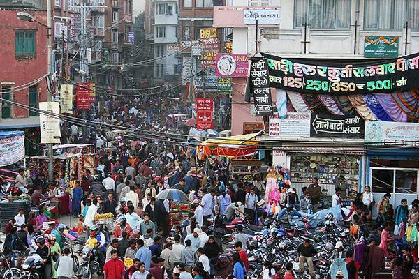 Crowded street in Kathmandu, Nepal. Photo by: Pavel Novak.