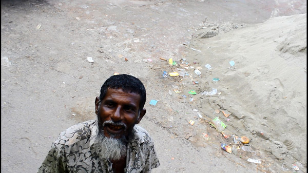A local inhabitant of Rampal who lost his land and claims he wasn't compensated fairly. Photo by: Nusrat Islam Khan.