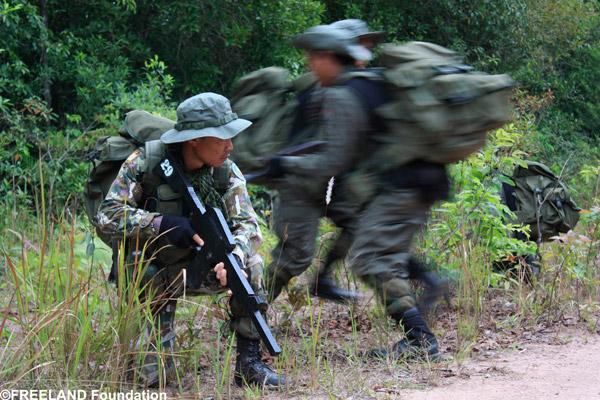 Enforcement rangers undergo FREELAND PROTECT enforcement training in the Dong Phayayen-Khao Yai World Heritage Site. Photo by: FREELAND Foundation.
