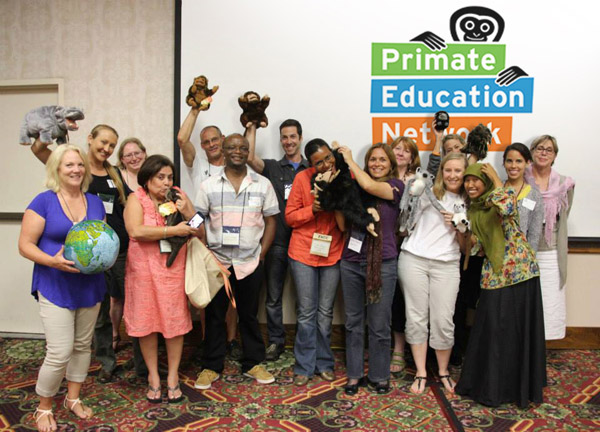 Primate Education Network's roundtable participants gather at the 2013 Zoos and Aquariums: Committing to Conservation Conference in Des Moines, IA. Photo by: the Primate Education Network.
