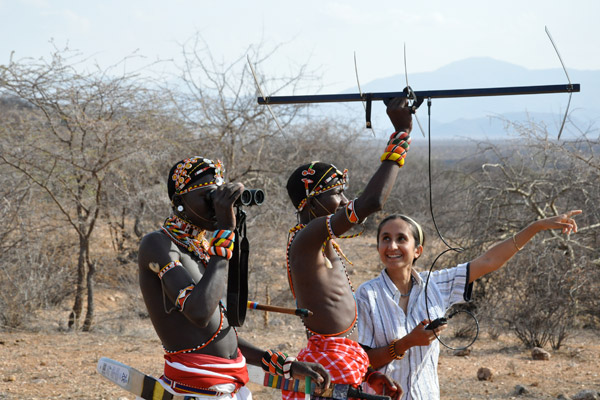 Samburu warriors tracking lions with Shivani Bhalla (far right). Photo by: Ewaso Lions.