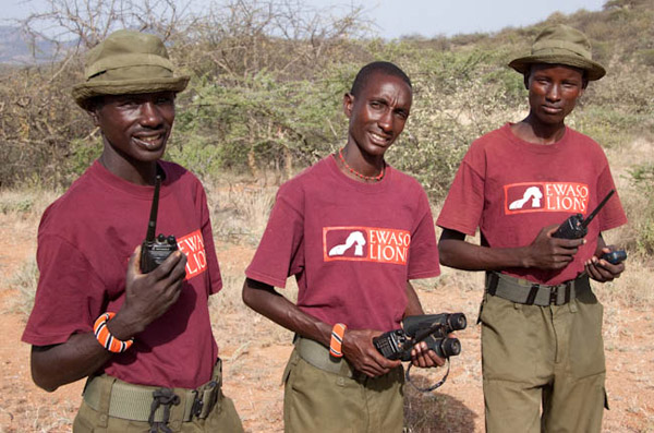 Tracking team. Photo by: Ewaso Lions.