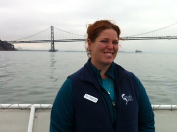 Maggie Ostdahl on ferry in San Francisco. Photo courtesy of Maggie Ostdahl.