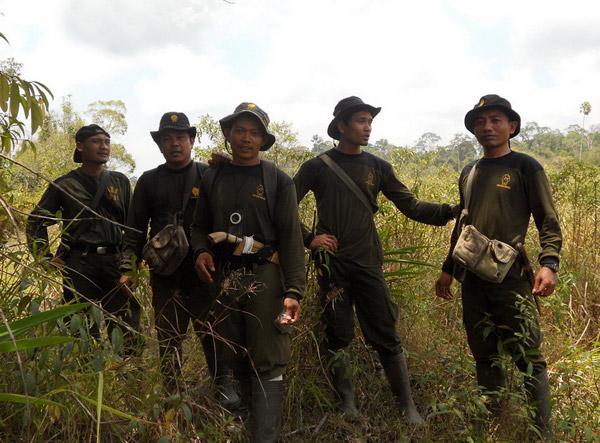 Rhino Protection Unit in Way Kambas National Park. Photo courtesy of YABI.