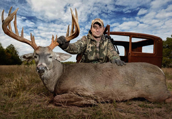 Corey Knowlton with deer he killed. Photo from Corey Knowlton's Facebook page.