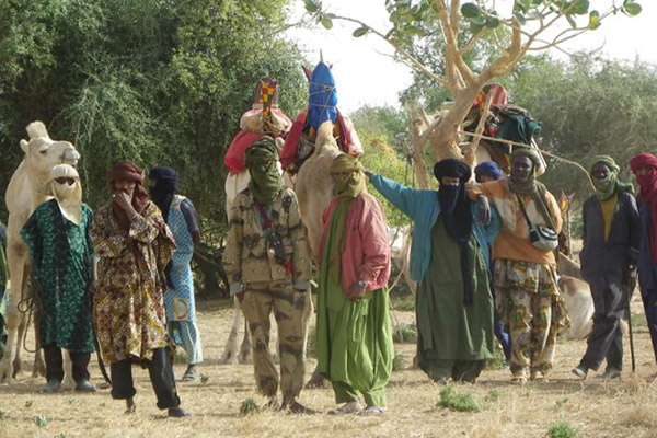 A community forest patrol. Photo courtesy of the Mali Elephant Project.