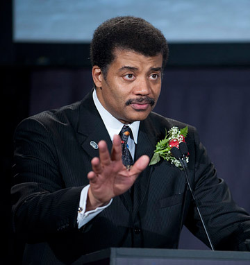 Neil deGrasse Tyson hosting the Apollo 40th anniversary celebration in 2009. Photo by: NASA.