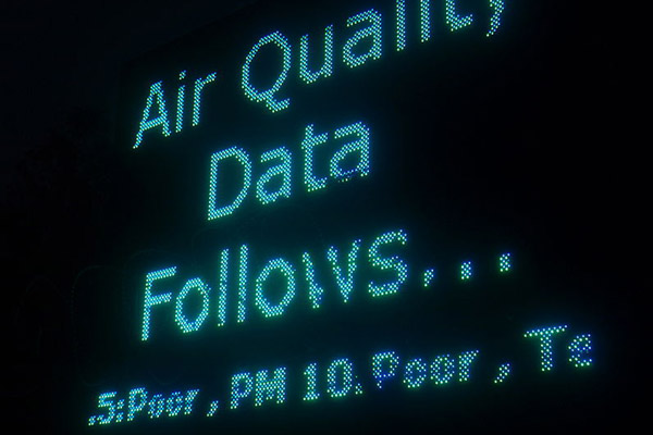 Air monitoring in New Delhi. Photo by: Fredericknoronha.