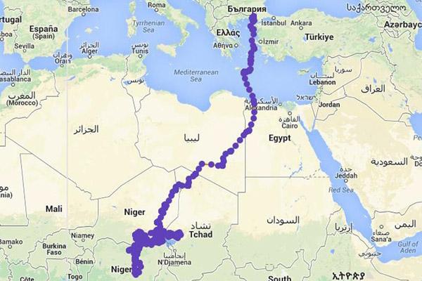 Migration journey of Paschalis. Photo by: Lifeneophron.eu.