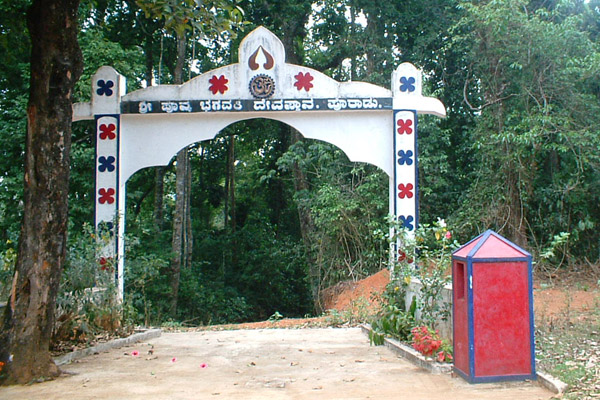 Entrance to a sacred grove in Kodagu, India. Photo courtesy of Shonil Bhagwat.